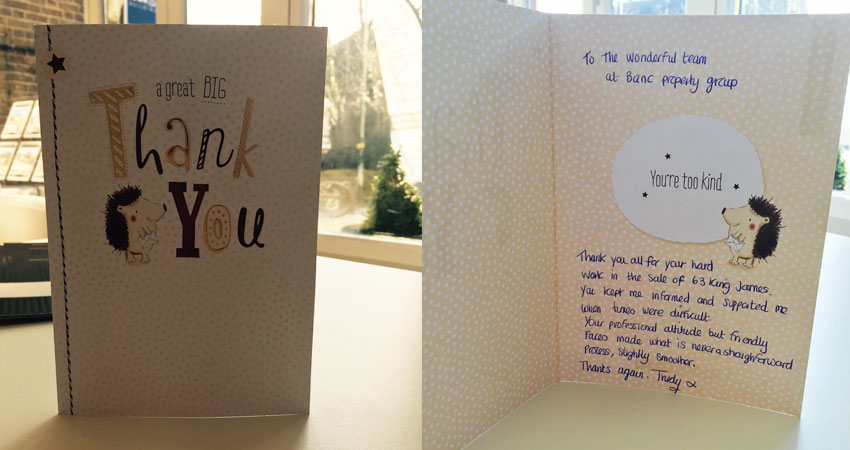 Banc Thank You Card